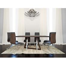 Drake/Veneta 7pc Dining Set, Walnut/Walnut