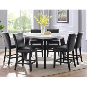 Carrara Black PU Counter Chair