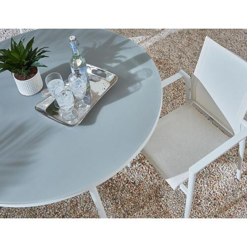 Essentials Dining Round Dining Table with Glass Top