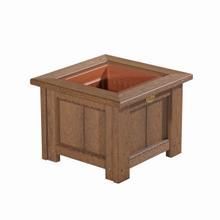 "See Details - 15"" Square Planter, Antique-mahogany"