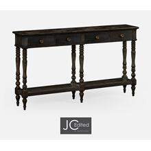 Dark Ale Parquet Double Console Table