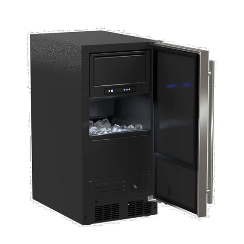 Product Image - 15-In Low Profile Built-In Clear Ice Machine With Factory-Installed Pump with Door Style - Stainless Steel