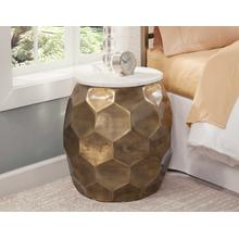 """View Product - Stomp Round End Table w/0.5"""" Marble Top"""