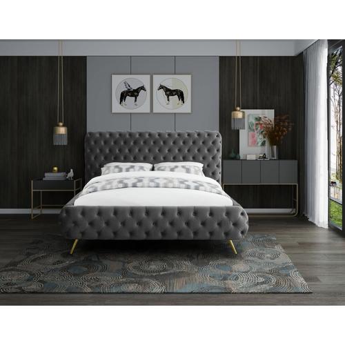 """Delano Velvet Queen Bed - 94.5"""" W x 93"""" D x 47.5"""" H"""