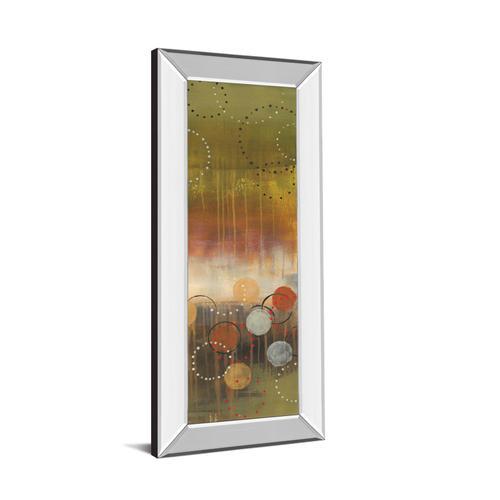 """Circles In Green Panel Il"" By Jeni Lee Mirror Framed Print Wall Art"