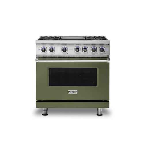 "36"" Sealed Burner Gas Range - VGR7362 Viking 7 Series"