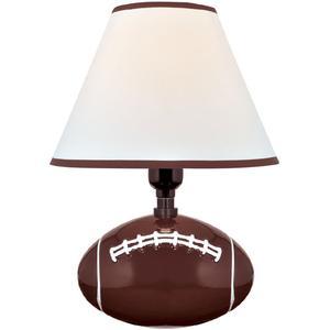 Table Lamp - Football Ceramic Body/fabric Shade, E27 Cfl 11w