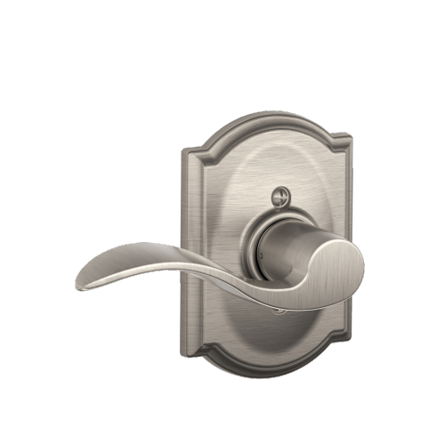 Schlage - Camelot Style Schlage Touch™ and Handleset with Accent Lever - Satin Nickel