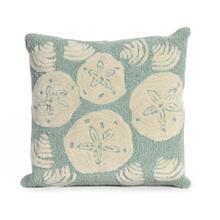View Product - Liora Manne Frontporch Shell Toss Indoor/Outdoor Pillow Aqua