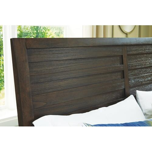 Darbry California King Panel Bed With 2 Storage Drawers