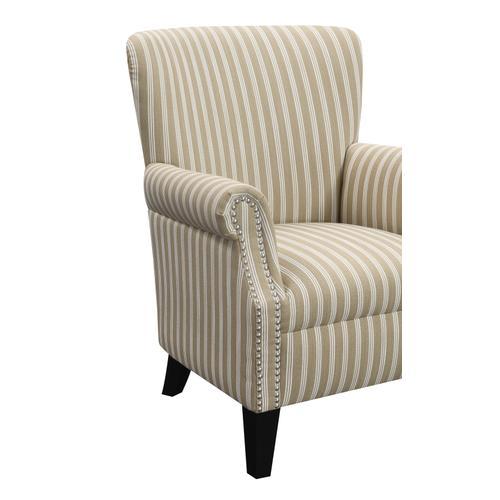 Oscar Accent Chair Tan Stripe