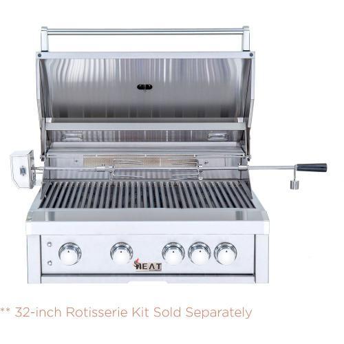"HEAT  HTGR324LP 32"" 4-Burner Gas Grill w/ Infrared Burner - LP **Sold with Cart**"