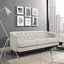 Coast Upholstered Fabric Sofa in Beige