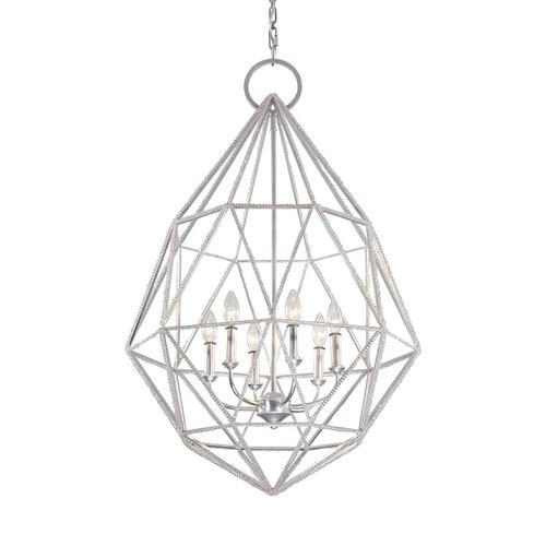 Marquise 6 - Light Chandelier Silver