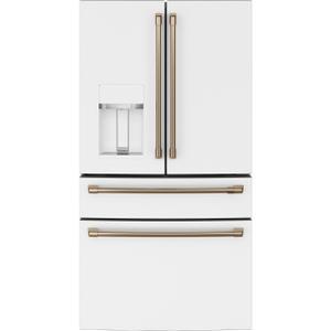 Café™ ENERGY STAR® 27.8 Cu. Ft. Smart 4-Door French-Door Refrigerator - MATTE WHITE