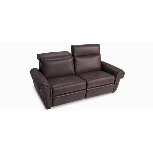 "Washington On photo: Apartment sofa with decorative nails 5/8"" (#54) Antique Gold. (169-170; Wood legs - Tea T37)"