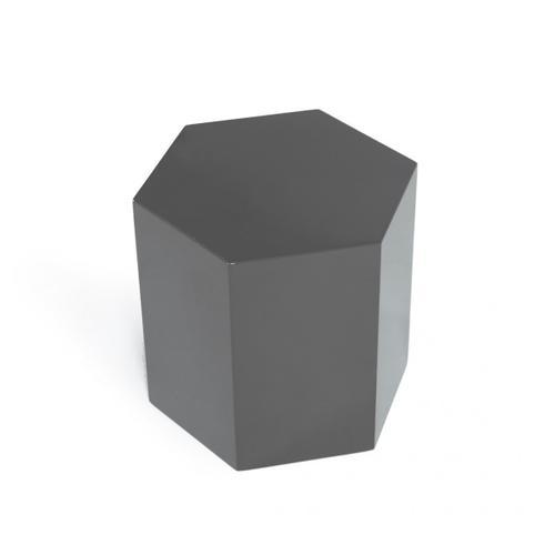 Modrest Newmont - Modern Medium Light Grey High Gloss End Table