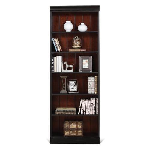 Richland 84-Inch Bookcase Prestig Blak/Ridgway Chry finish