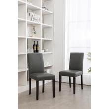 GREY PARSON CHAIR (2 IN 1 BOX)