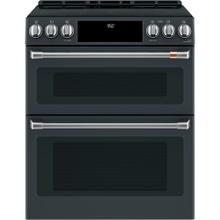 """View Product - Café ™ 30"""" Slide-In Front Control Induction and Convection Double Oven Range"""