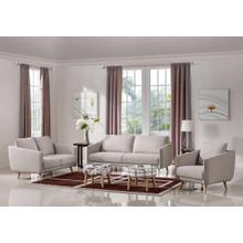 Divani Casa Dakota Modern Beige Fabric Sofa Set