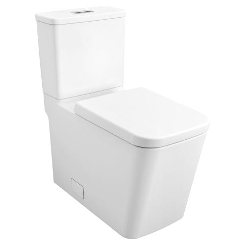 Eurocube Two-piece Dual Flush Right Height Elongated Toilet With Seat