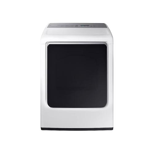 Samsung - 7.4 cu. ft. Gas Dryer with Integrated Touch Controls in White
