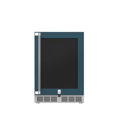 """Hestan - 24"""" Hestan Outdoor Undercounter Refrigerator (Glass Door) - GRGR Series - Pacific-fog"""