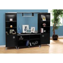 BOOKCASE - BLACK / CHROME / STORAGE UNIT