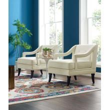Concur Living Room Set Performance Velvet Set of 2 in Ivory