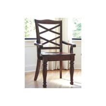 Porter Dining Room Arm Chair  Rustic Brown