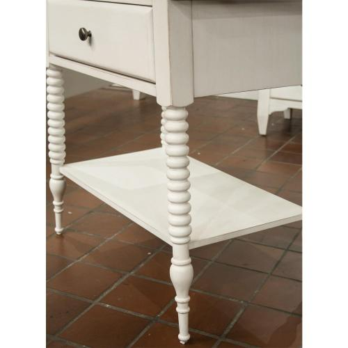 Myra - One Drawer Nightstand - Paperwhite Finish