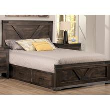 See Details - Chattanooga Double 4 Drawer Storage Platform Bed with 22'' Low Footboard