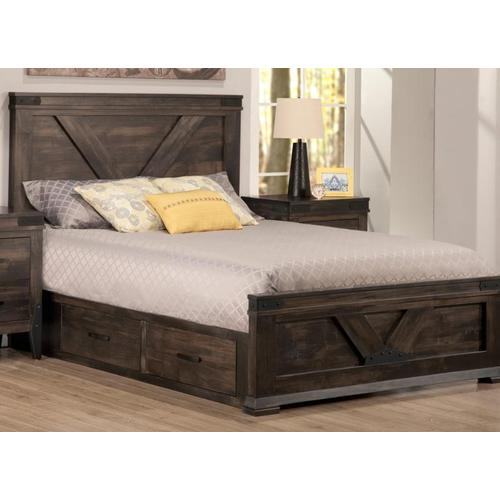 Handstone - Chattanooga Double 4 Drawer Storage Platform Bed with 22'' Low Footboard