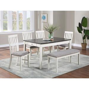 - Nina Dining Table Chalk Grey