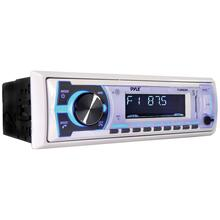 Single-DIN In-Dash Digital Marine Stereo Receiver with Bluetooth® (White)