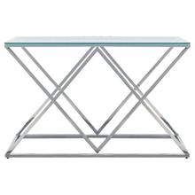 See Details - Silver/glass Diamond Console Table, Kd
