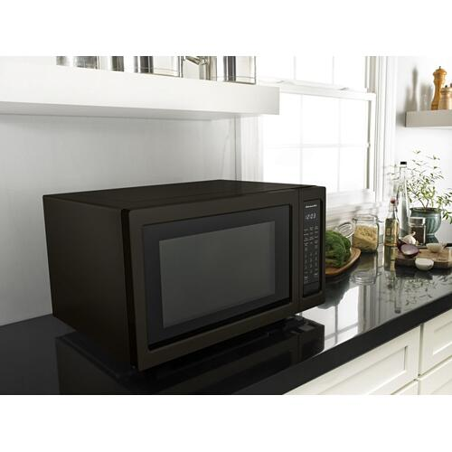 "21 3/4"" Countertop Convection Microwave Oven with PrintShield™ Finish - 1000 Watt - Black Stainless Steel with PrintShield™ Finish"