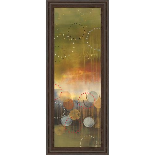 "Classy Art - ""Circles In Green Panel I"" By Jeni Lee Framed Print Wall Art"