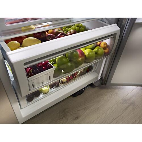 29.5 cu. ft 48-Inch Width Built-In Side by Side Refrigerator with PrintShield™ Finish - Stainless Steel with PrintShield™ Finish