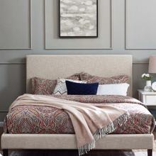 Taylor Full / Queen Upholstered Linen Fabric Headboard in Beige