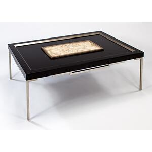 Coffee Table with Glass 54x36x18""