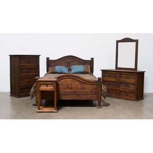 Full Mansion Bed W/Star Medio Finish