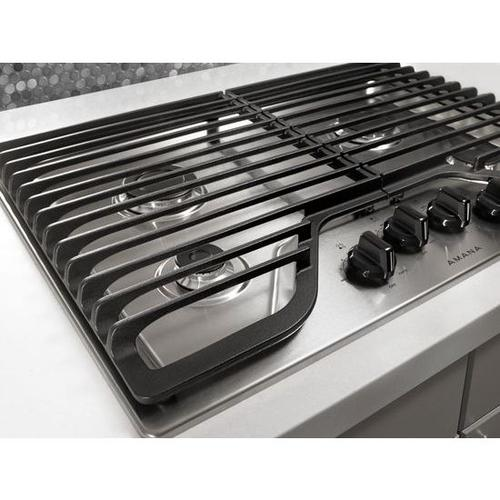 Amana - Amana® 30-inch Gas Cooktop with 4 Burners - White