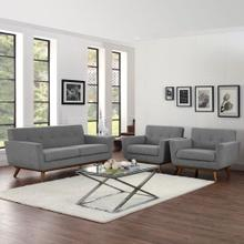 Engage Armchairs and Loveseat Set of 3 in Expectation Gray
