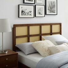 Luana Cane Queen Headboard in Walnut
