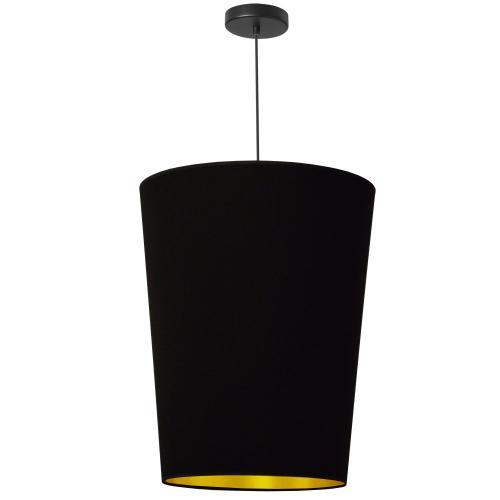 1lt Paisley Pendant Blk/gld, Medium Black