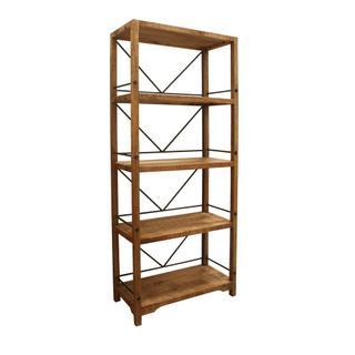 Winslow Wood and Metal Bookshelf