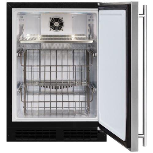 "24"" Marvel All Freezer - Solid Overlay Panel - Integrated Left Hinge"