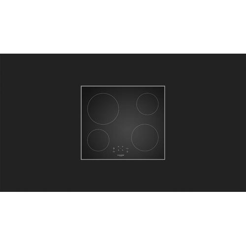 """Fulgor Milano - 24"""" Black Ceran Radiant - Black Glass"""